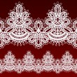 White openwork lace seamless border. - Image vectorielle