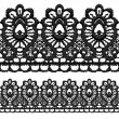 Black openwork lace seamless border. — Stock Vector #14802167