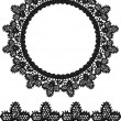 Round openwork lace border.  — Stockvectorbeeld