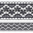 Black openwork lace seamless border. — Stock Vector #16769505