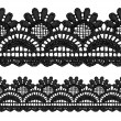 Black openwork lace seamless border. — Stock Vector #16769903