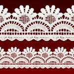 White openwork lace seamless border. — Stock Vector