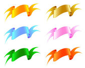 Silk ribbon. — Stock Vector