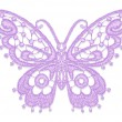 Lacy butterfly. — Stock Vector