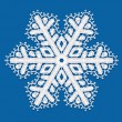 Stock Vector: Lacy snowflake.