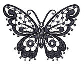 Lacy butterfly. — Vector de stock