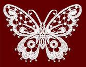Lacy vlinder. — Stockvector