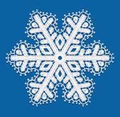 Lacy copo de nieve. — Vector de stock