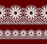 Seamless openwork lace border. — Stock Vector