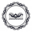 Round openwork lace border. — Stock Vector