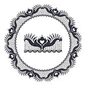 Round openwork lace border. — Stockvektor