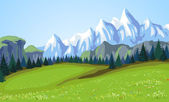 Mountain landscape. — Stock Vector