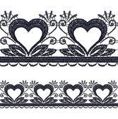 Seamless openwork lace border. — Stock vektor