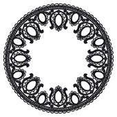 Круглый ажурный кружевной границы. — Cтоковый вектор