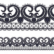 Stock Vector: Seamless openwork lace border.