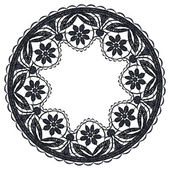 Round openwork lace border. — Stock Vector