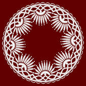 Round openwork lace border. — Vector de stock