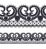Seamless openwork lace border. — Stock Vector