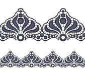 Seamless openwork lace border. — Vetorial Stock