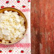 Rural cottage cheese. — Stock Photo