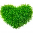 Stock Vector: Grassy heart