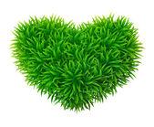 Grassy heart — Stock Vector