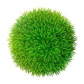 Grassy sphere — Vetorial Stock