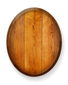 Realistic wooden round board. — Stock Vector