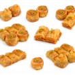 Turkish Baklavisolated on whitr background. — Stock Photo #40273607