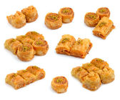 Turkish Baklava isolated on whitr background. — Stock Photo
