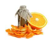 Casca de laranja seca. — Fotografia Stock