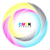 Abstract CMYK circle. — Stock Vector