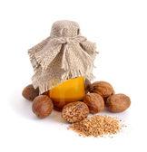 Nutmeg essential oil. — Stock Photo