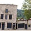 Stock Photo: Goldrush heritage buildings in Dawson City Yukon