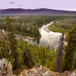 Stock Photo: Yukon Canadtaigwilderness and McQuesten River
