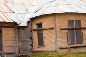 Boarded up old historic structural unsafe building — Stock Photo