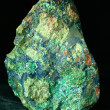 Malachite azurite conglomerate found in Arizona US - Stock Photo