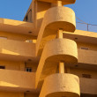 Outside helical stairs condo architecture in Spain — Stock Photo