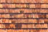 Westen red cedar shingles natural texture pattern — Stock Photo
