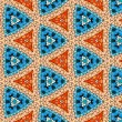 Stock Photo: Seamlessly tiled kaleidoscopic mosaic pattern