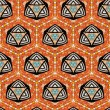 Seamlessly tiled kaleidoscopic mosaic pattern - Stock Photo