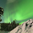 intenso despliegue de luces del norte aurora boreal — Foto de Stock   #19959569