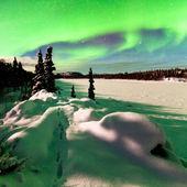 Intense display of Northern Lights Aurora borealis — Stock Photo