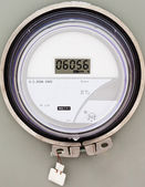 Smart grid residential digital power supply meter — Photo