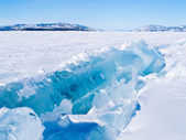 Icy pressure ridge in Lake Laberge Yukon T Canada — Stock Photo