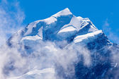 Summit top of Aoraki Mt Cook highest peak of NZ — ストック写真