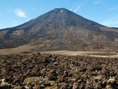 Lava field volcano Mount Ngauruhoe in New Zealand — Stock Photo
