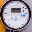 Smart grid residential digital power supply meter - Stock Photo