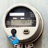 смарт-сетки жилой цифровой индикатор питания — Стоковое фото