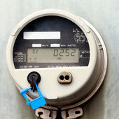 Smart grid residential digital power supply meter — Stock Photo